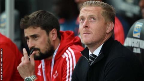Pep Clotet (left) with Garry Monk
