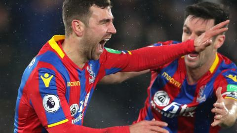 James McArthur of Crystal Palace celebrates
