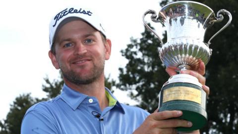 Bernd Wiesberger with the Italian Open trophy