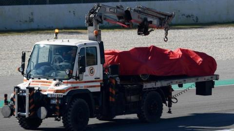 Sebastian Vettel Crashes Ferrari On Day Two Of Barcelona Test Bbc