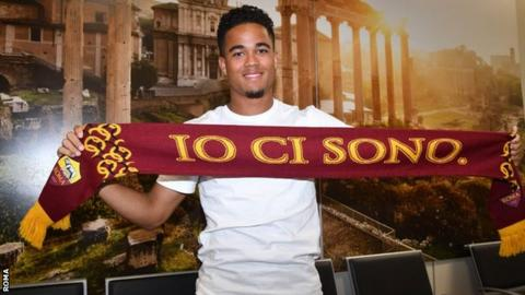 Justin Kluivert has followed in his father's footsteps by moving to Italy after playing for Ajax