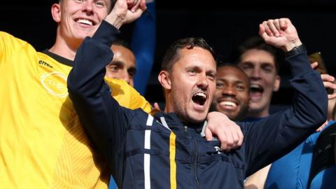 Paul Hurst led Shrewsbury Town to Wembley twice in the 2017-18 season