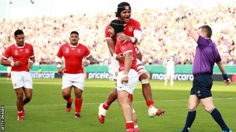 United States 19-31 Tonga: Tongans end Rugby World Cup campaign with win