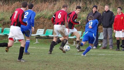 Rangers play Belgrave Wanderers in the Priaulx League