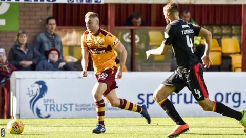 Allan Campbell playing for Motherwell against Partick Thistle