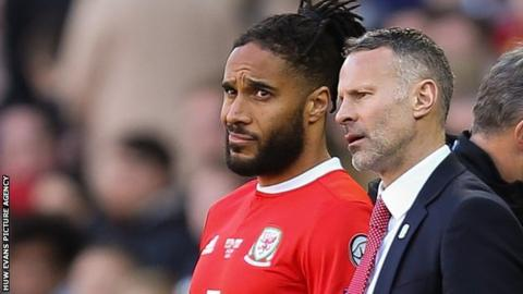 Ashley Williams and Wales manager Ryan Giggs