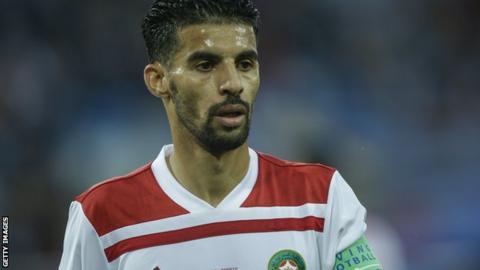 Morocco's Mbark Boussoufa