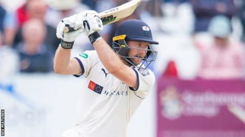 Adam Lyth batting for Yorkshire