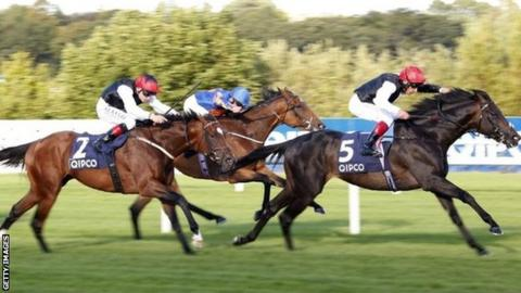 Golden Horn won the Irish Champion Stakes at Leopardstown on 12 September