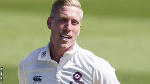 Luke Wood in action for Northants