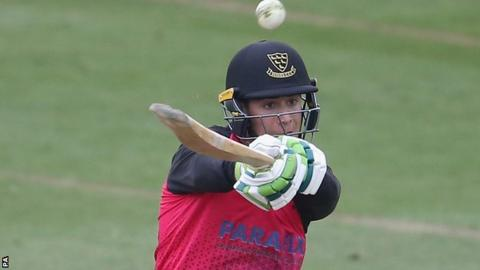 Sussex wicketkeeper Michael Burgess