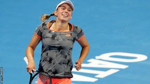 Qatar Open: Elise Mertens beats Simona Halep to win her biggest tour title