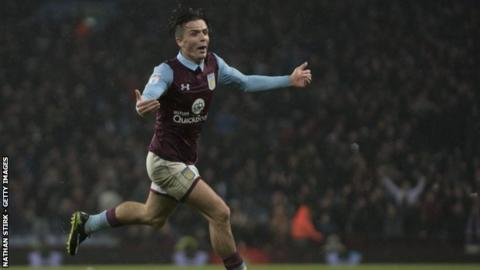 Aston Villa winger Jack Grealish's goal was his fourth for the club, but his first matchwinner