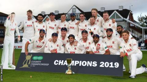 Essex players celebrate