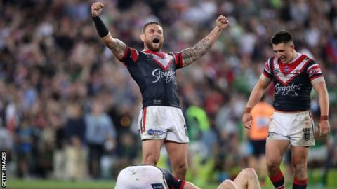 Sydeny Roosters celebrate