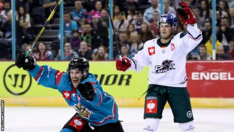 Bobby Farnham celebrates after notching what he thought was Belfast's winner
