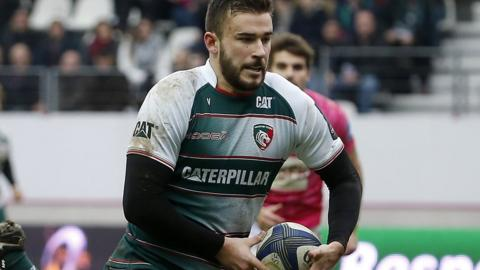 Leicester Tigers back Tommy Bell