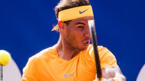 Rafael Nadal in the 2018 Barcelona Open