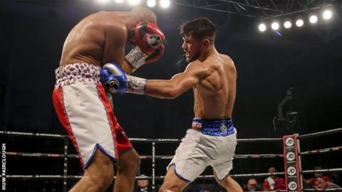 Joe Cordina took his record to 8-0 by beating Sean Dodd in Cardiff
