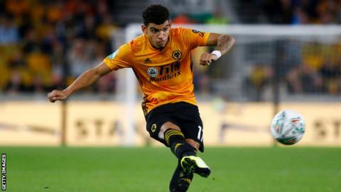 Morgan Gibbs-White in action for Wolves