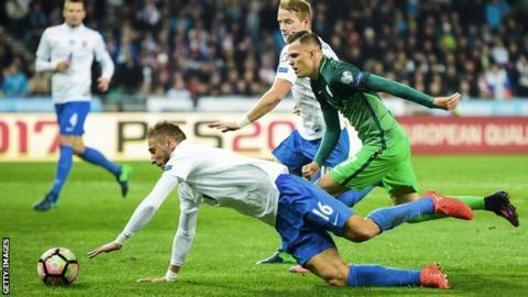 Slovenia beat Slovakia 1-0 on Saturday
