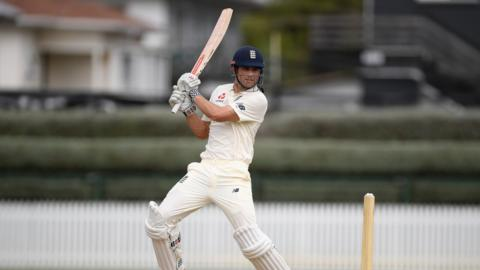 Alistair Cook bats for England