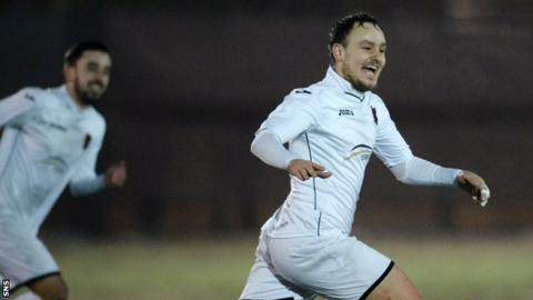East Kilbride's Sean Winter celebrates against Lothian Thistle