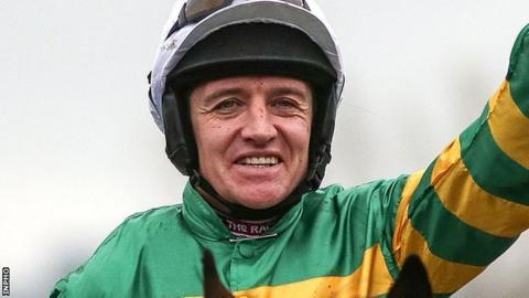 Barry Geraghty rode Carlingford Lough to victory at Punchestown