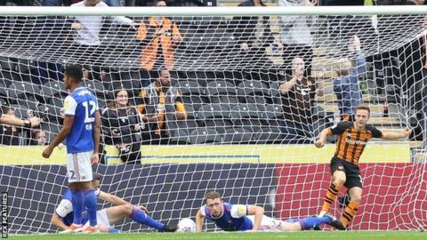 Jarrod Bowen scores for Hull