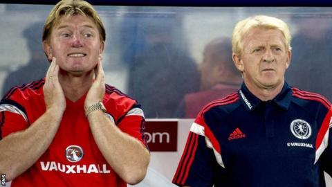 Stuart McCall (left) and Gordon Strachan have coached Scotland since 2013
