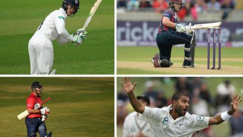 PCA players of the year award nominees (clockwise, from top left) Keaton Jennings, Ben Duckett, Jeetan Patel, Graham Napier