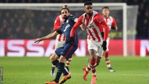 Jurgen Locadia has played in the Champions League for PSV Eindhoven