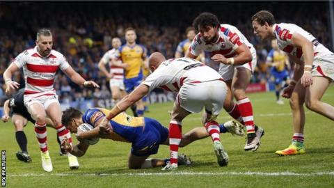 Leeds top scorer Joel Moon has now scored 12 Super League tries this season