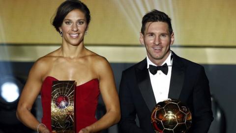 Carli Lloyd and Lionel Messi