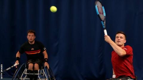 Alfie Hewett and Gordon Reid lost in the men's doubles