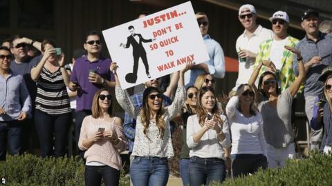 Justin Timberlake fans at Pebble Beach