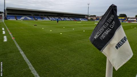 General view of Moss Rose, home of Macclesfield Town