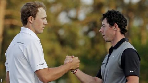 Jordan Spieth (left) and Rory McIlroy
