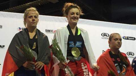 Leah McCourt was crowned amateur MMA featherweight world champion in Las Vegas