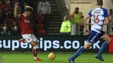 Lloyd Kelly's first goal for the club came on only the 19-year-old's fourth appearance