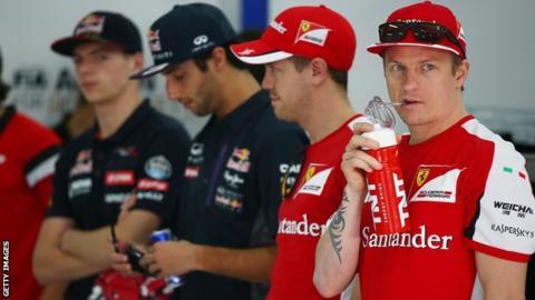 Ferrari driver Kimi Raikkonen
