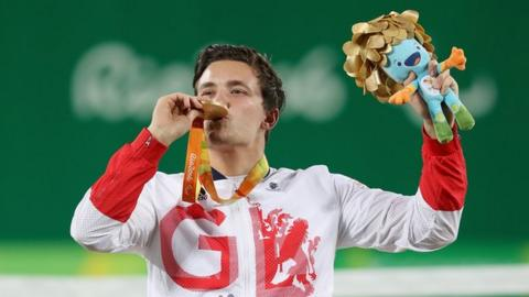 Gordon Reid celebrates his gold medal success in Rio