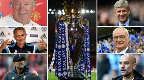 Sir Alex Ferguson, Jose Mourinho, Jurgen Klopp, Pep Guardiola, Claudio Ranieri, Arsene Wenger