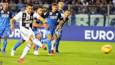 Ronaldo Brace In Juventus Win Over Empoli
