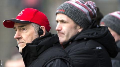 Mickey Harte with Stephen O'Neill