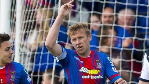 Inverness Caledonian Thistle striker Richie Foran celebrates