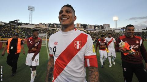 Peru captain Guerrero cleared to play in WC
