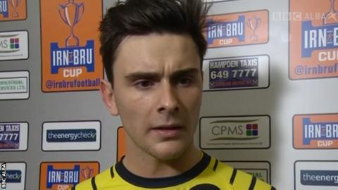 Queen's Park goalkeeper Jordan Hart