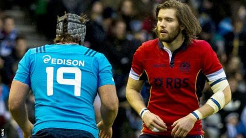 Ben Toolis won his first cap against Italy at Murrayfield in February 2015