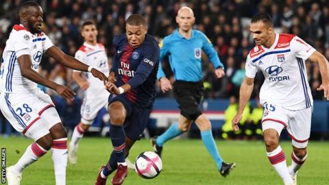 Watch PSG star Kylian Mbappe score four goals in 13 minutes